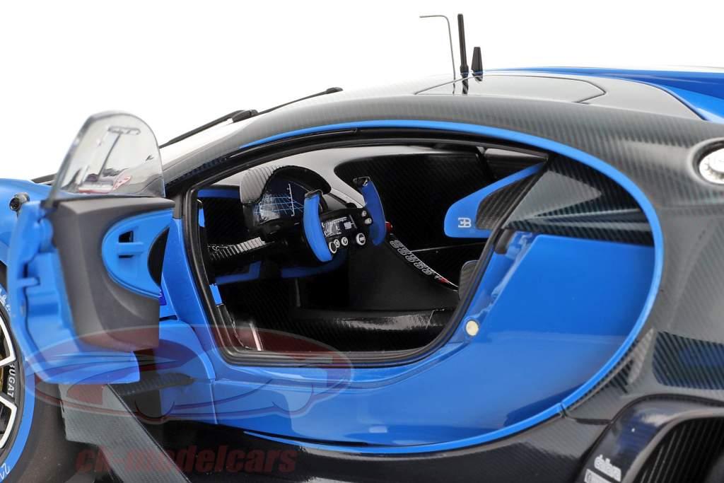 Bugatti Vision GT ano de construção 2015 Bugatti racing azul / carbon azul 1:18 AUTOart