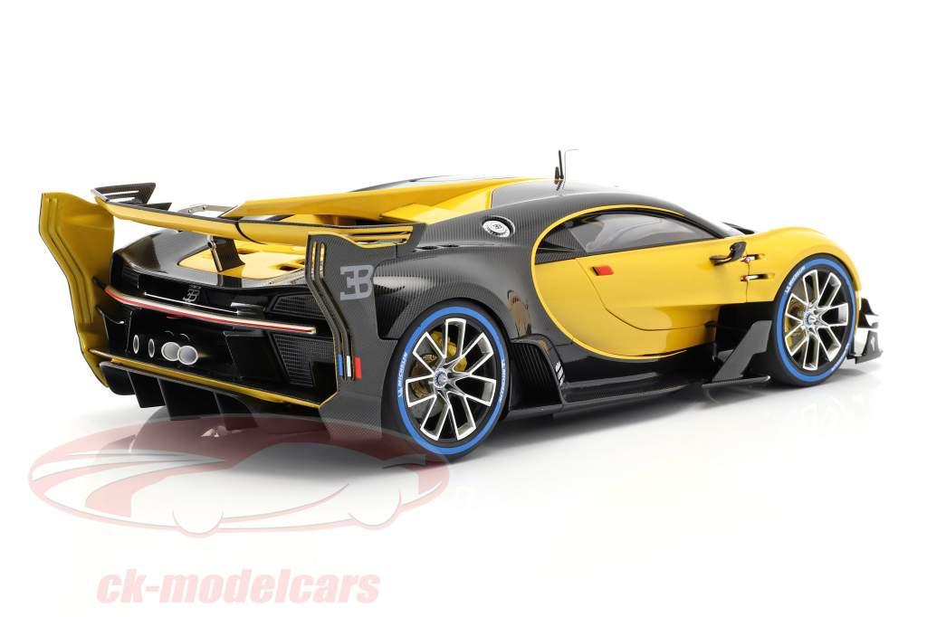 Bugatti Vision GT ano de construção 2015 midas amarelo / carbon preto 1:18 AUTOart