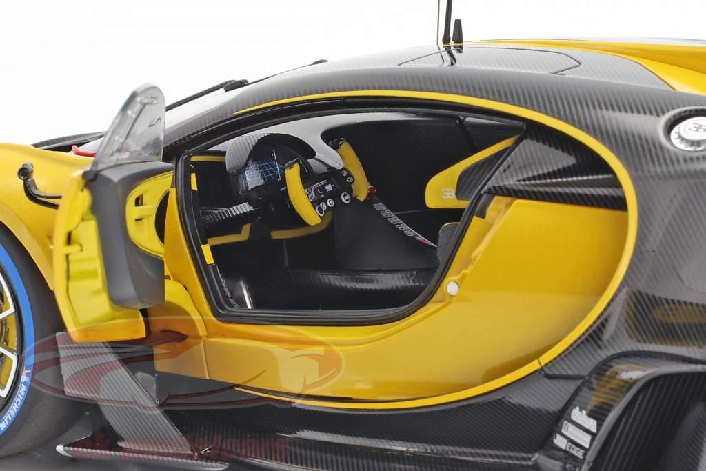 Bugatti Vision GT année de construction 2015 midas jaune / carbon noir 1:18 AUTOart