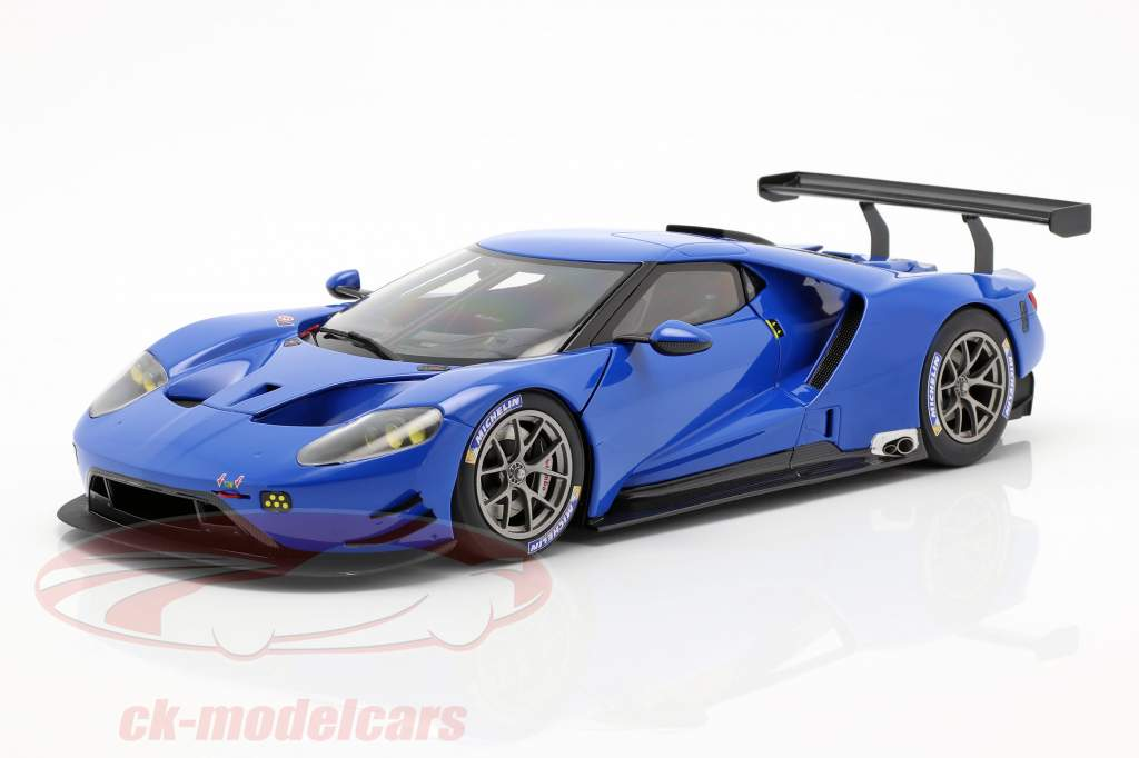 Ford GT LeMans Plain Body Version azul 1:18 AUTOart