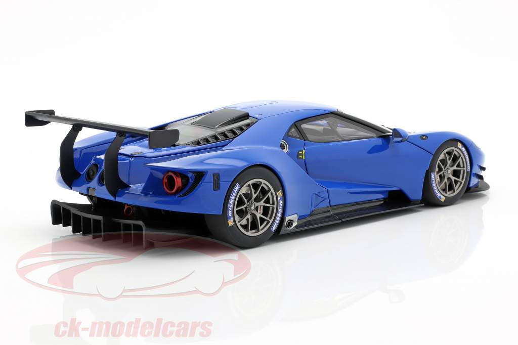 Ford GT LeMans Plain Body Version blå 1:18 AUTOart