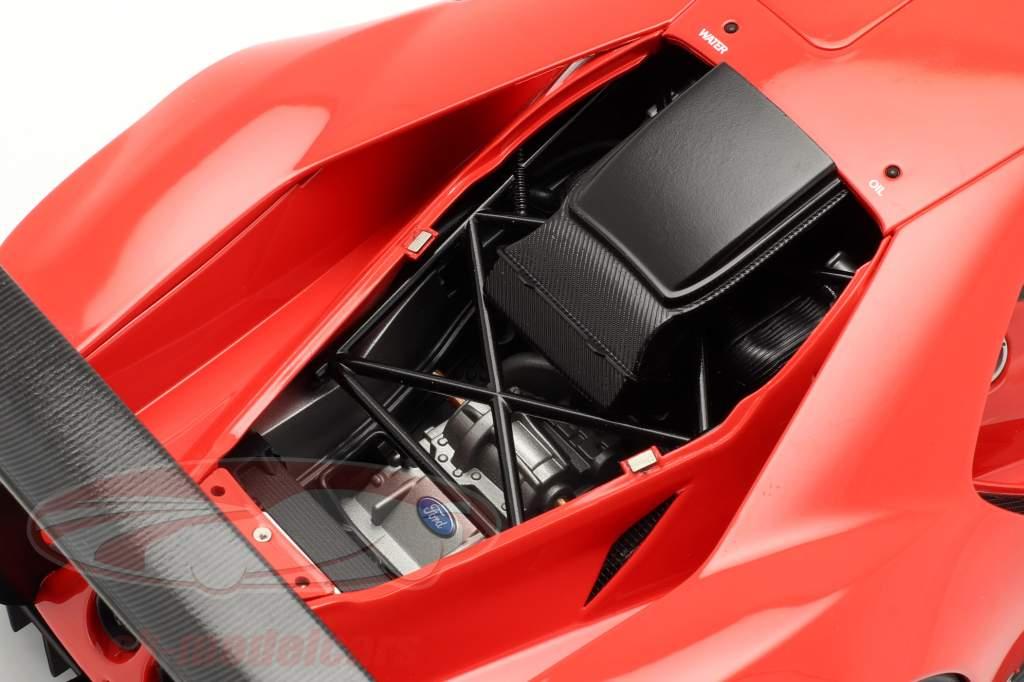 Ford GT LeMans Plain Body Version vermelho 1:18 AUTOart