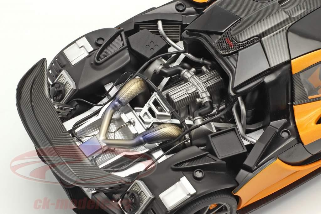 McLaren P1 Bouwjaar 2013 papaya spark 1:18 AUTOart