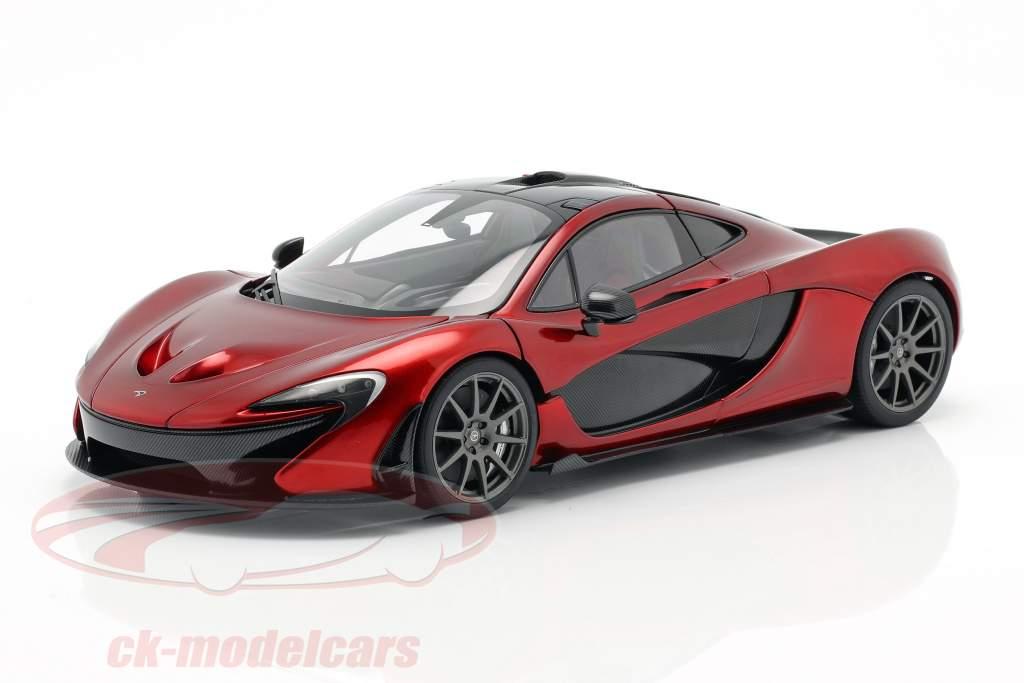 McLaren P1 Bouwjaar 2013 vulkaan rood 1:18 AUTOart