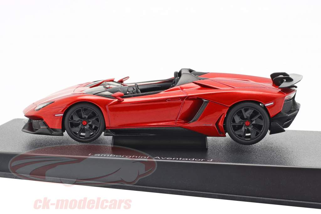 Lamborghini Aventador J Roadster Ano 2012 vermelho / preto 1:43 AUTOart