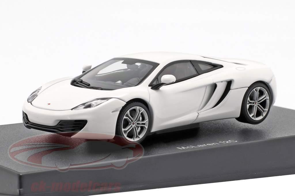 McLaren MP4-12C Année 2011 blanc métallique 1:43 AUTOart