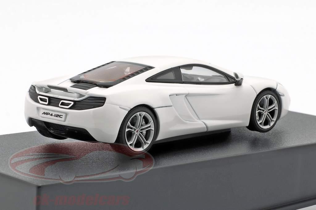 McLaren MP4-12C Jaar 2011 wit metalen 1:43 AUTOart