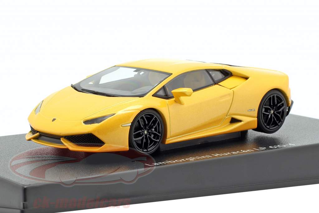Lamborghini Huracan LP 610-4 ano de construção 2014 amarelo metálico 1:43 AUTOart