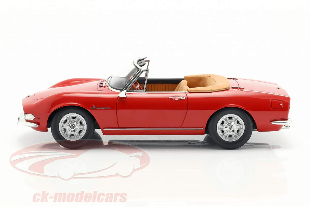 Fiat Dino Spyder año de construcción 1966 rojo 1:18 Cult Scale