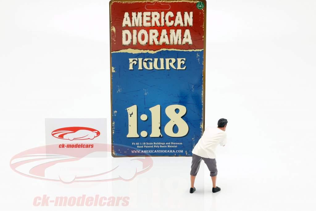 figuur 4 Weekend Car Show 1:18 American Diorama