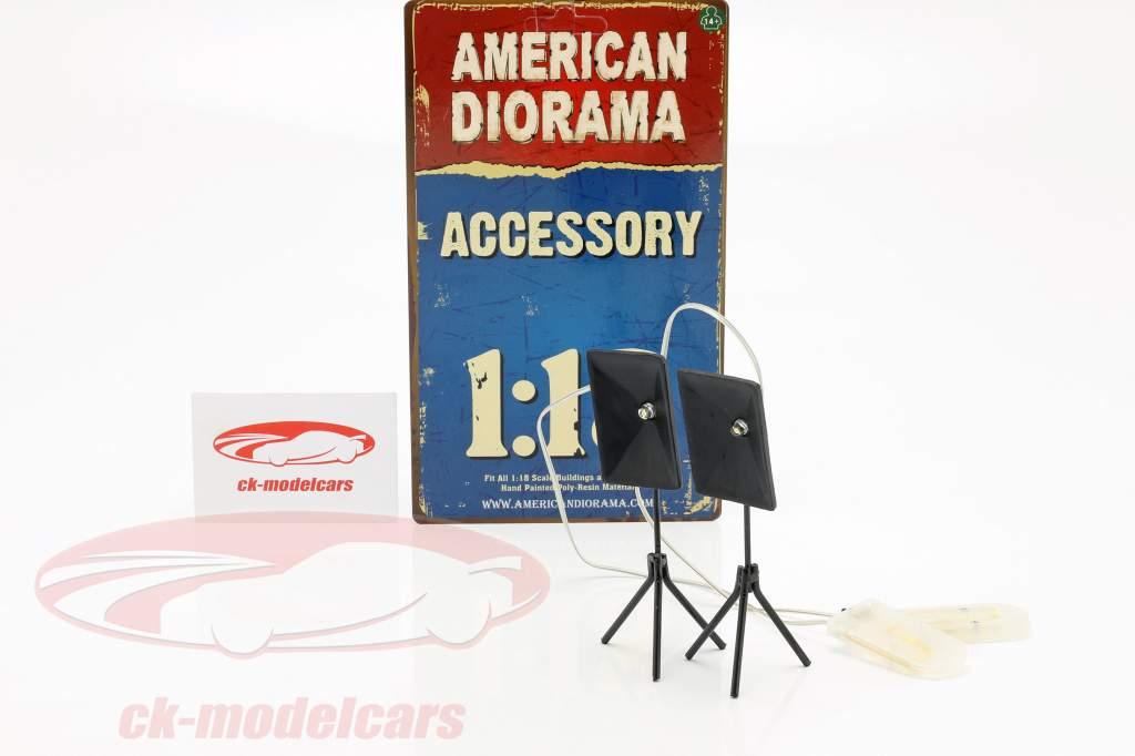fotógrafo iluminação conjunto 1:18 American Diorama