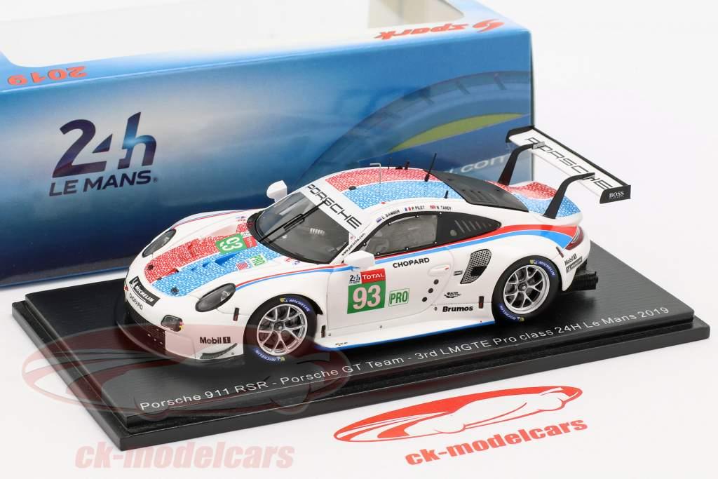 Porsche 911 RSR #93 3ª LMGTE Pro 24h LeMans 2019 Porsche GT Team 1:43 Spark