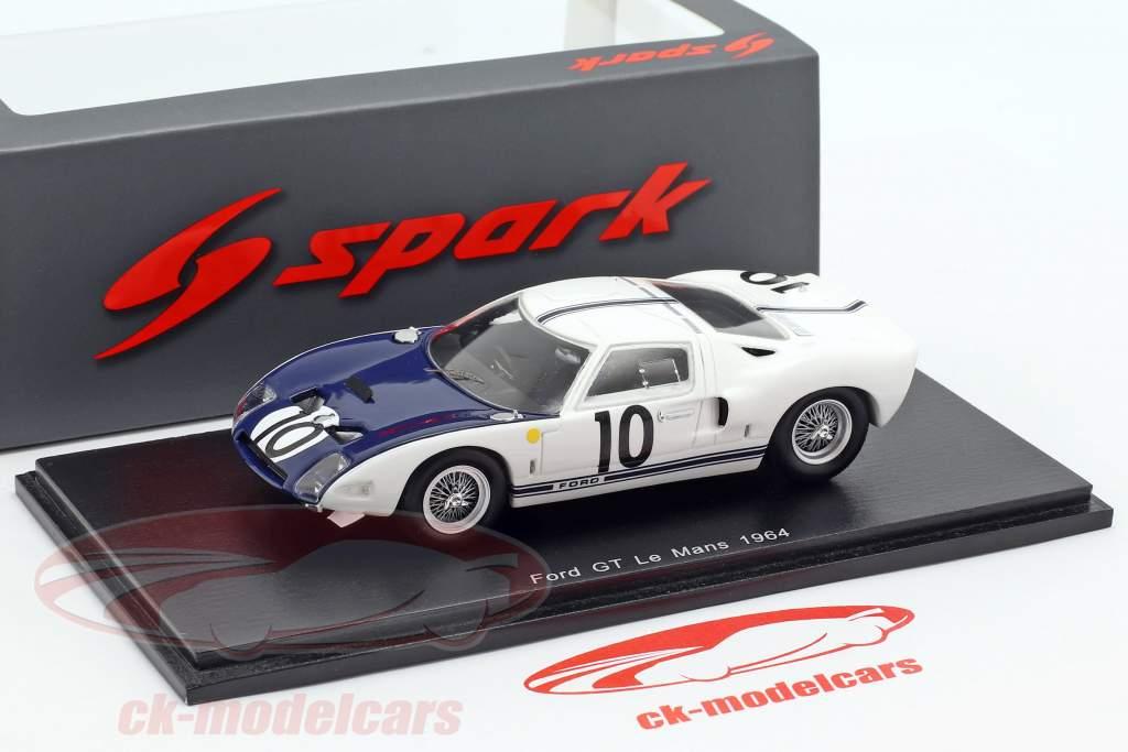 Ford GT40 #10 24h LeMans 1964 Hill, McLaren 1:43 Spark