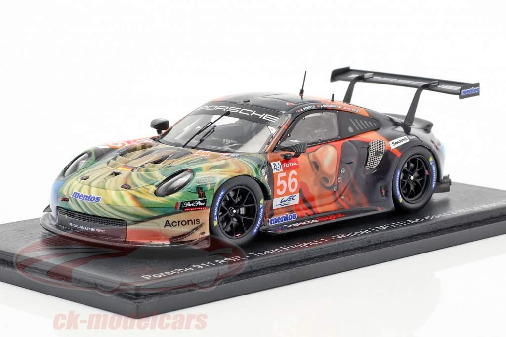 Porsche 911 RSR #56 Winner LMGTE Am 24h LeMans 2019 Team Project 1 1:43 Spark