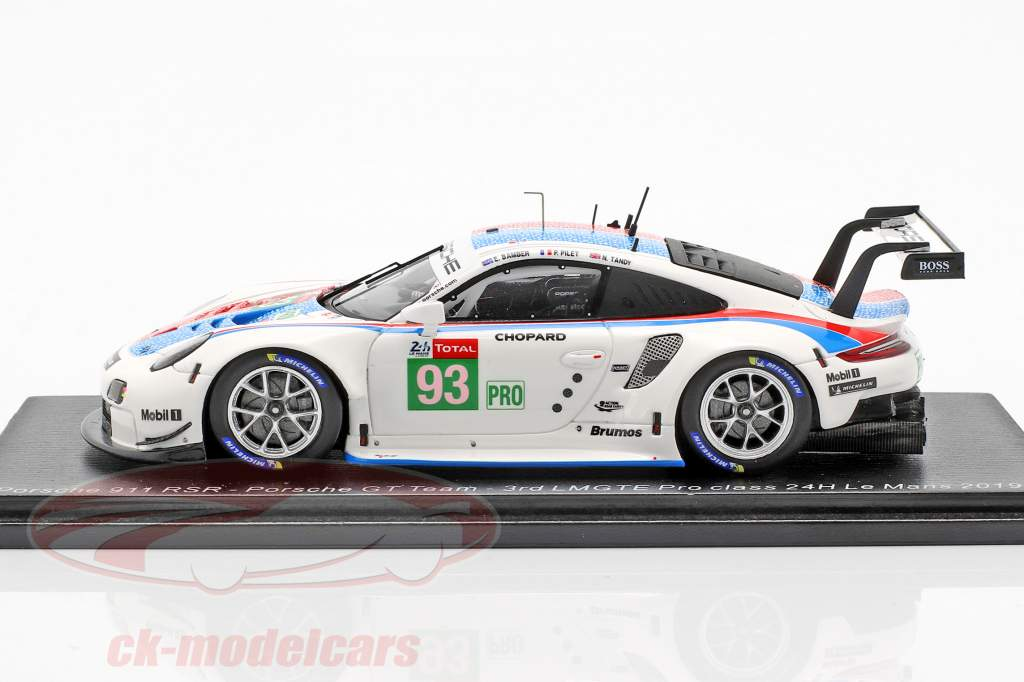 Porsche 911 RSR #93 tercero LMGTE Pro 24h LeMans 2019 Porsche GT Team 1:43 Spark