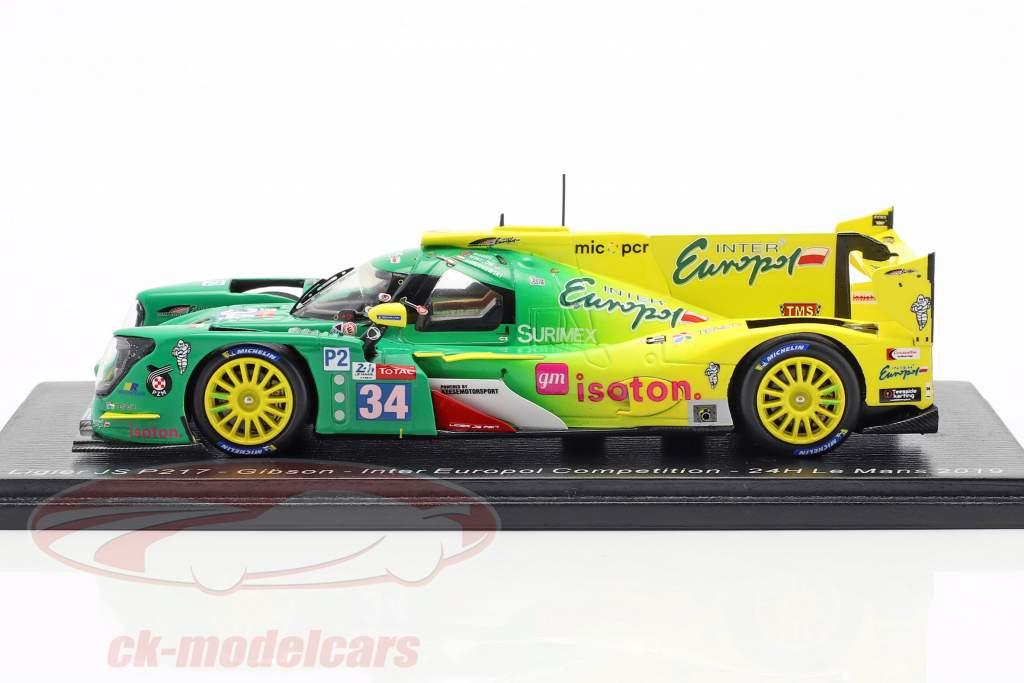 Ligier JS P217 #34 24h LeMans 2019 Smiechowski, Winslow, Moore 1:43 Spark