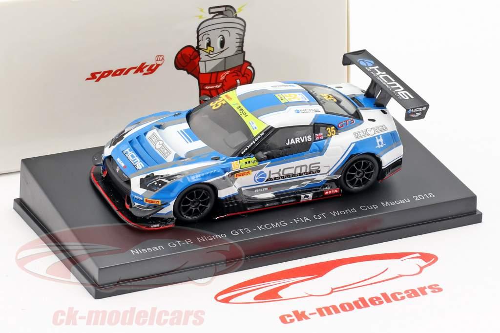 Nissan GT-R Nismo GT3 #35 FIA GT World Cup Macau 2018 Oliver Jarvis 1:64 Spark
