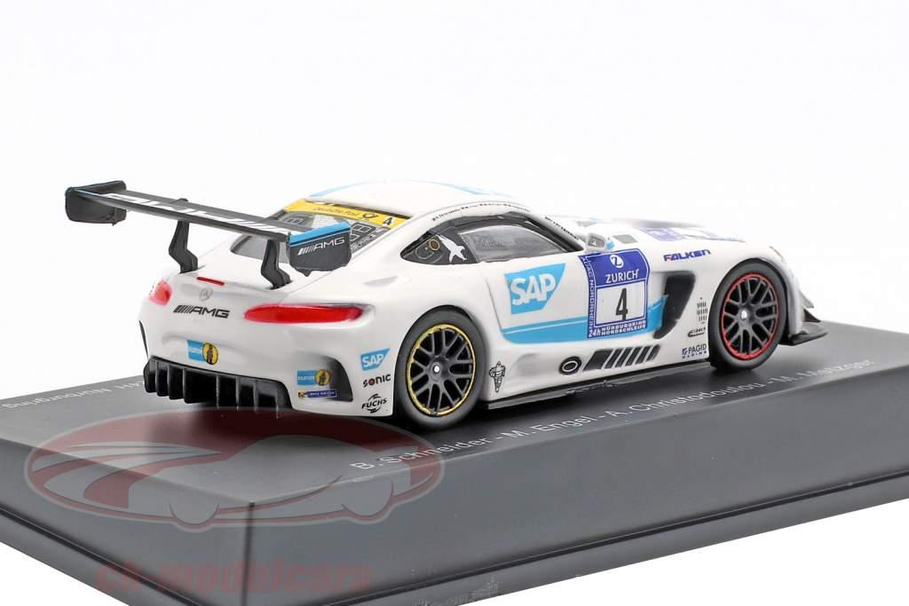 Mercedes-Benz AMG GT3 #4 winner 24h Nürburgring 2016 Team Black Falcon 1:64 Spark