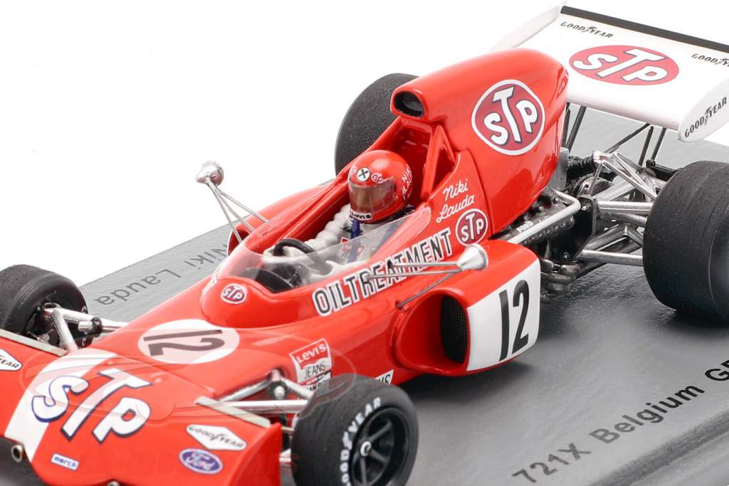 Niki Lauda March 721X #12 belga GP fórmula 1 1972 1:43 Spark