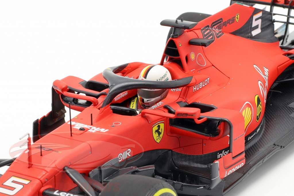 Sebastian Vettel Ferrari SF90 #5 4e Australisch GP formule 1 2019 1:18 BBR