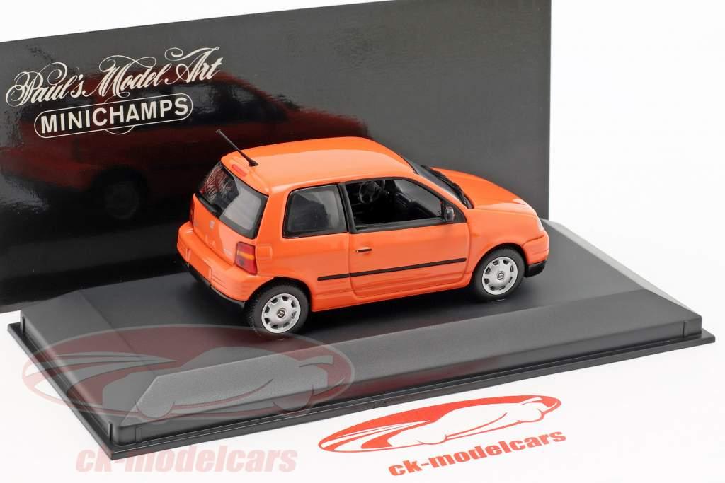 Seat Arosa year 1997 bright orange 1:43 Minichamps