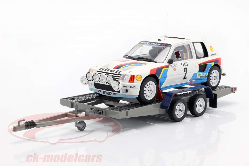 3-Car Set Winner Rallye Monte Carlo 1985 Peugeot Talbot Sport 1:18 OttOmobile