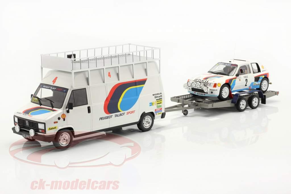3-Car Set vencedor Rallye Monte Carlo 1985 Peugeot Talbot Sport 1:18 OttOmobile