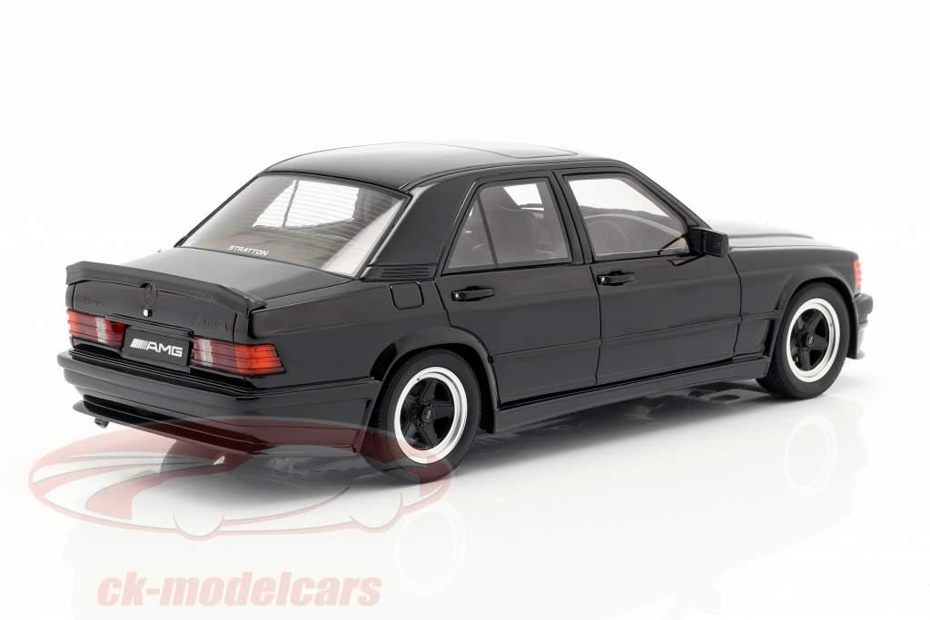 Mercedes-Benz 190E 2.3 AMG ano de construção 1984 preto 1:18 OttOmobile