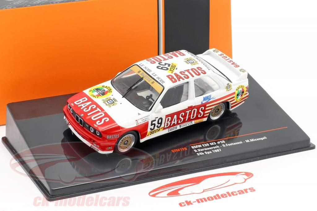 BMW M3 (E30) #59 24h Spa 1987 Bastos Racing Team 1:43 Ixo