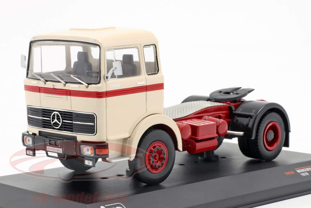 Mercedes-Benz LPS 1632 caminhão ano de construção 1970 bege / vermelho 1:43 Ixo