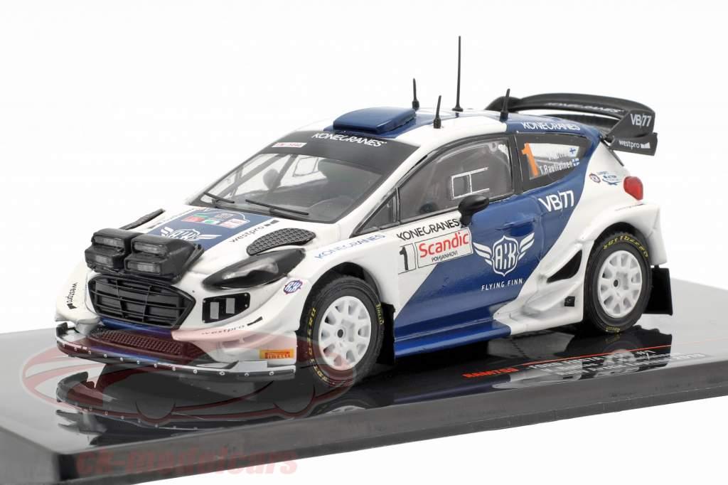 Ford Fiesta WRC #1 5th Arctic Lapland Rallye 2019 Bottas, Rautiainen 1:43 Ixo