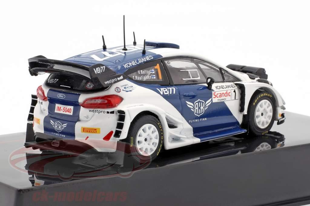 Ford Fiesta WRC #1 quinto ártico Laponia Rallye 2019 Bottas, Rautiainen 1:43 Ixo