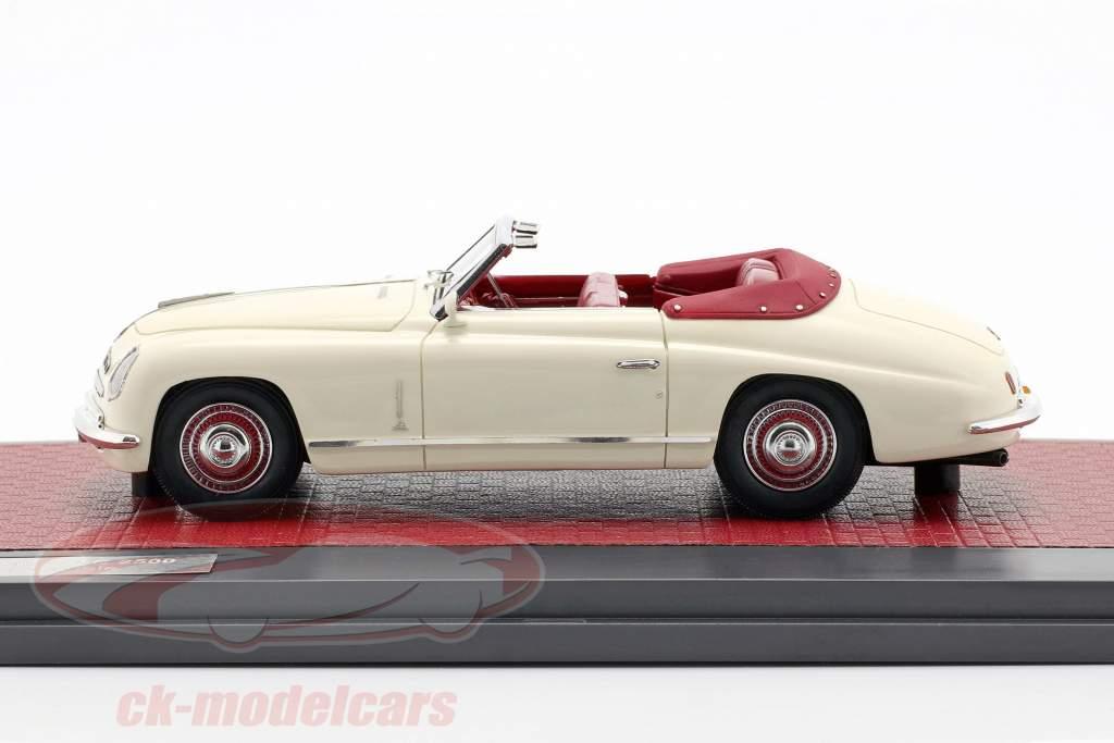 Alfa Romeo 6C 2500 Ghia Cabriolet Open Top 1947 creme hvid 1:43 Matrix