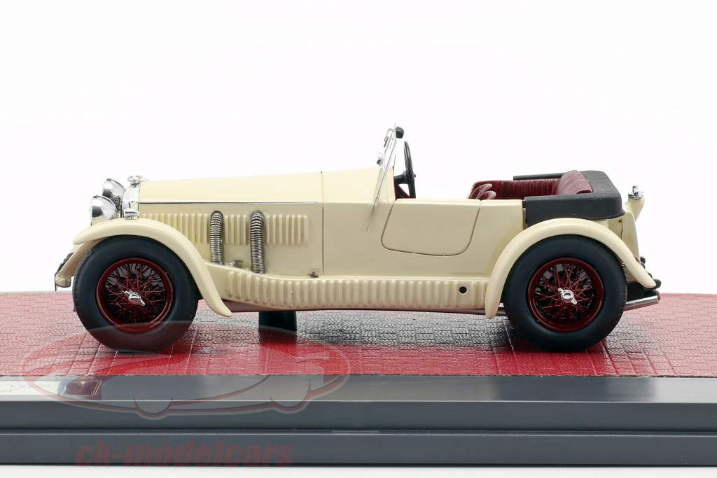 Invicta 4.5-litre S-Type Low Chassis Tourer Open Top 1930 creme weiß 1:43 Matrix