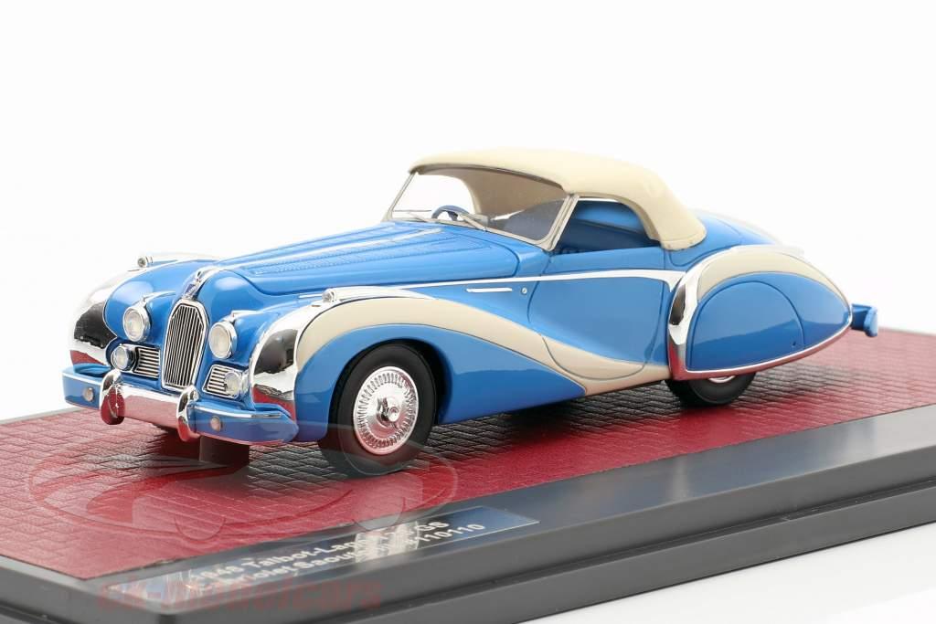 Talbot-Lago T26 GS cabriolé Saoutchik Closed Top 1948 azul 1:43 Matrix