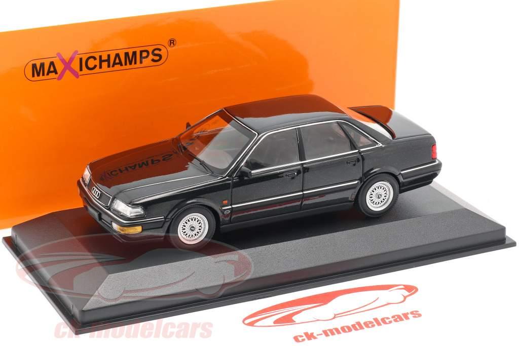 Audi V8 (4C) year 1988 black metallic 1:43 Minichamps