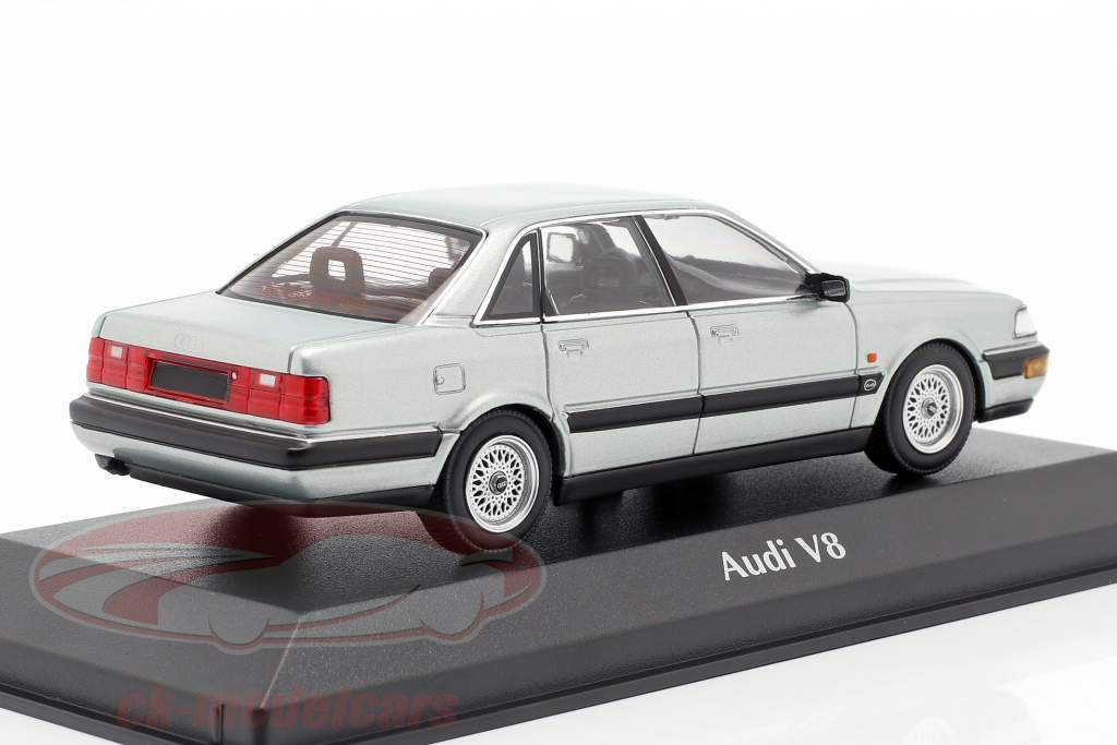 Audi V8 (4C) year 1988 silver metallic 1:43 Minichamps