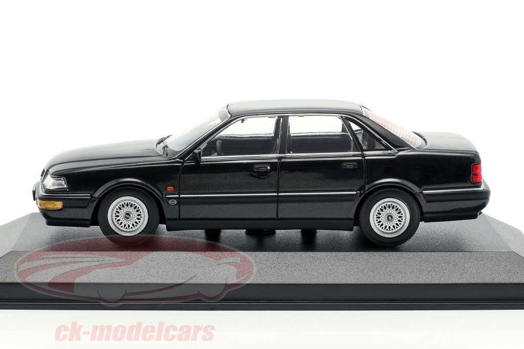 Audi V8 (4C) anno di costruzione 1988 nero metallico 1:43 Minichamps