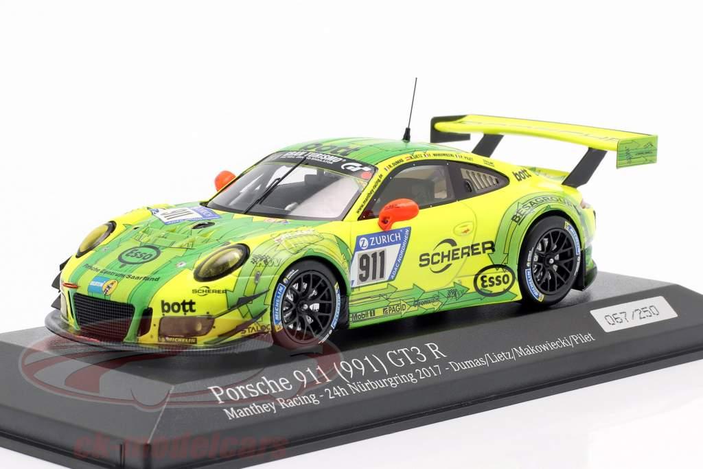 Porsche 911 (991) GT3 R #911 24h Nürburgring 2017 Grello 1:43 Minichamps