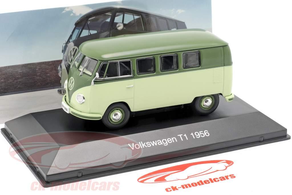 Volkswagen VW Bulli T1 año de construcción 1956 luz verde / verde 1:43 Altaya
