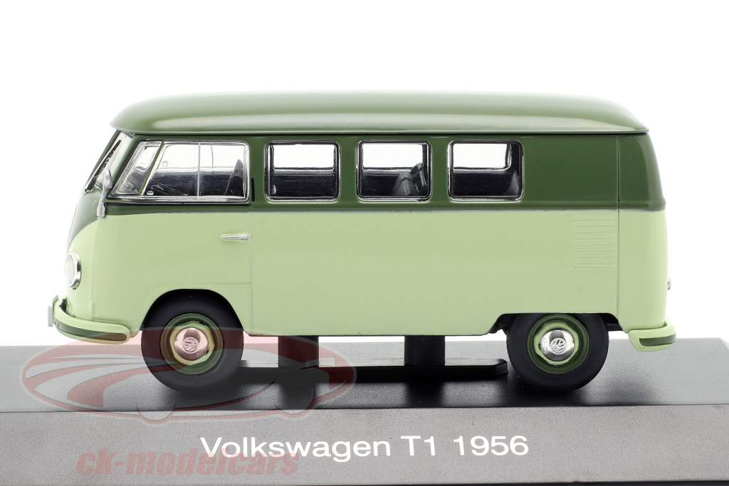 Volkswagen VW Bulli T1 ano de construção 1956 luz verde / verde 1:43 Altaya