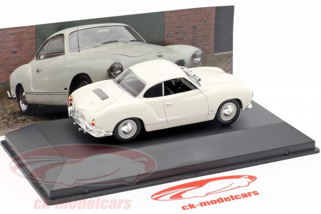 Volkswagen VW Karmann Ghia year 1962 white 1:43 Altaya