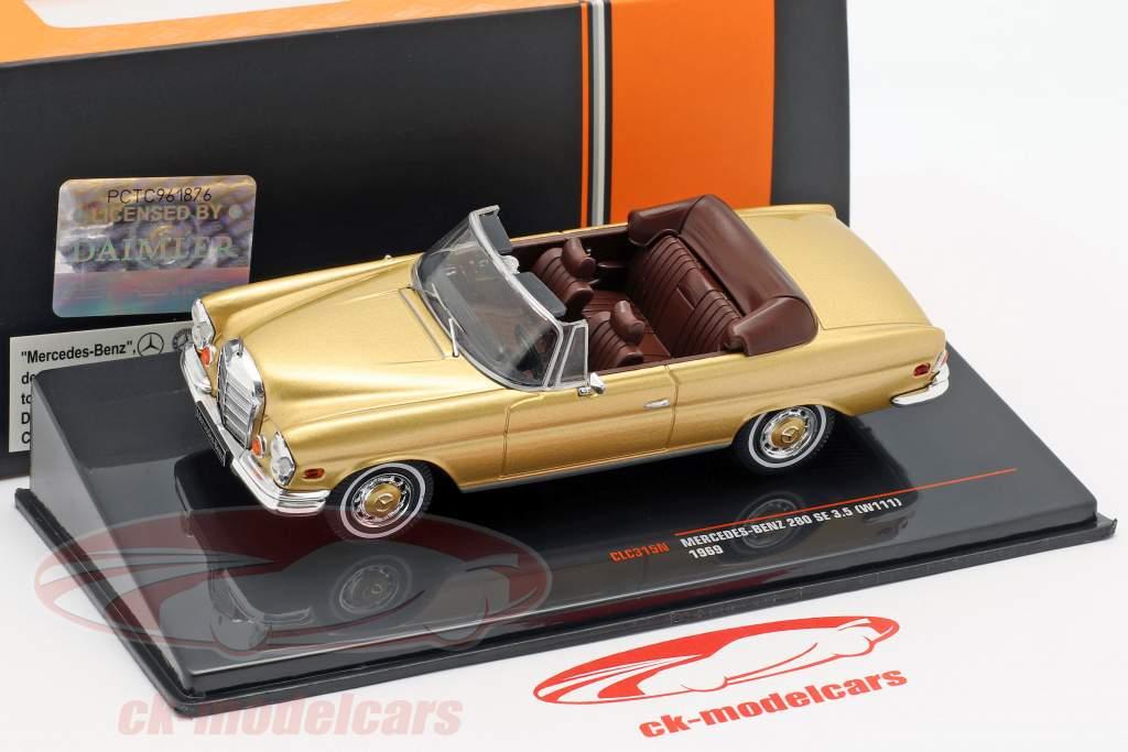Mercedes-Benz 280 SE 3.5 (W111) Baujahr 1969 gold 1:43 Ixo