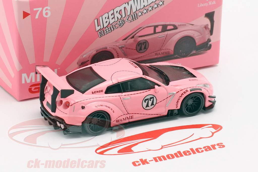 LB-Works Nissan G-TR (R35) Type 2 LHD Pink Pig 1:64 TrueScale