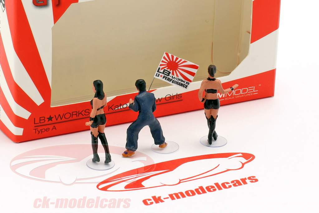 LB-Works Mr. Kato & Show Girls characters Set 1:64 TrueScale