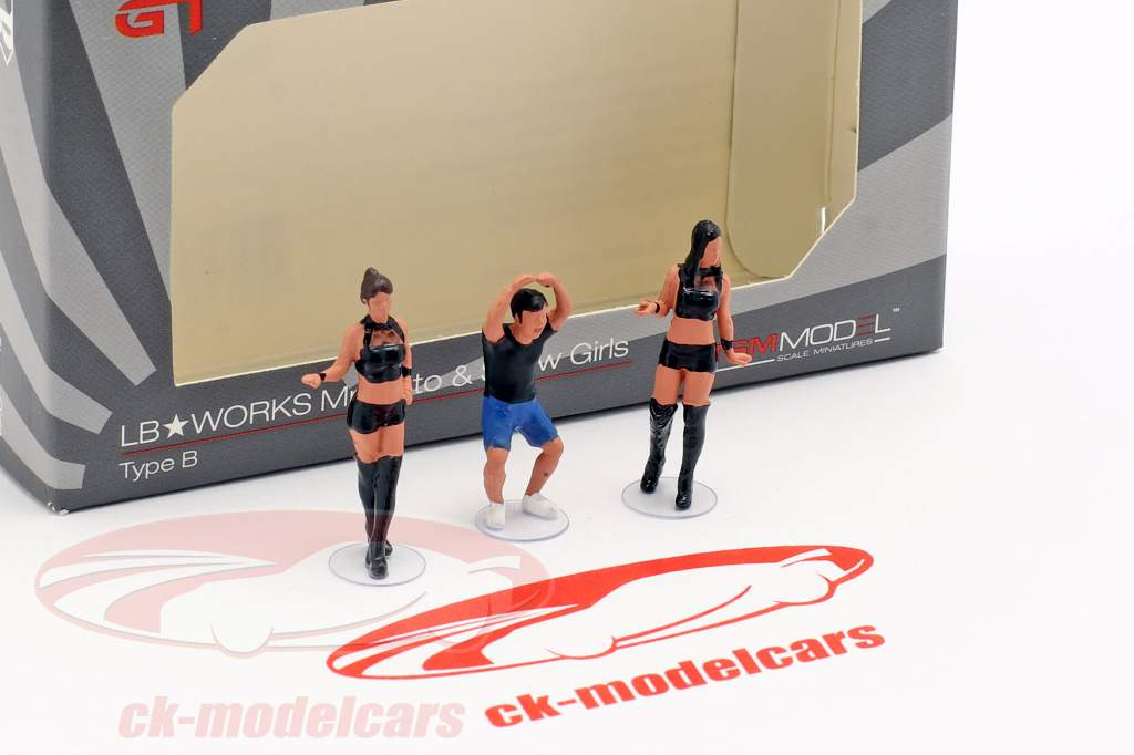 LB-Works Mr. Kato & Show Girls cifras Set 1:64 TrueScale