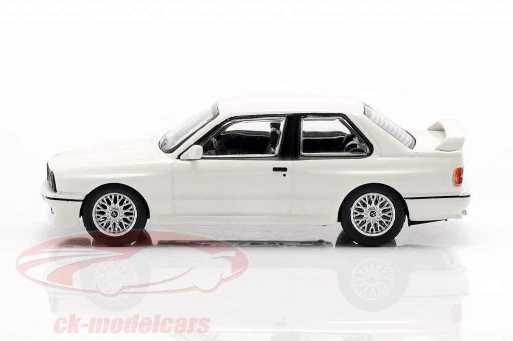 BMW M3 (E30) LHD alpino branco 1:64 TrueScale
