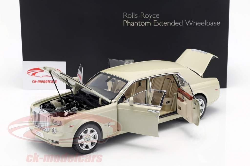 Rolls Royce Phantom EWB year 2012 carrera white 1:18 Kyosho