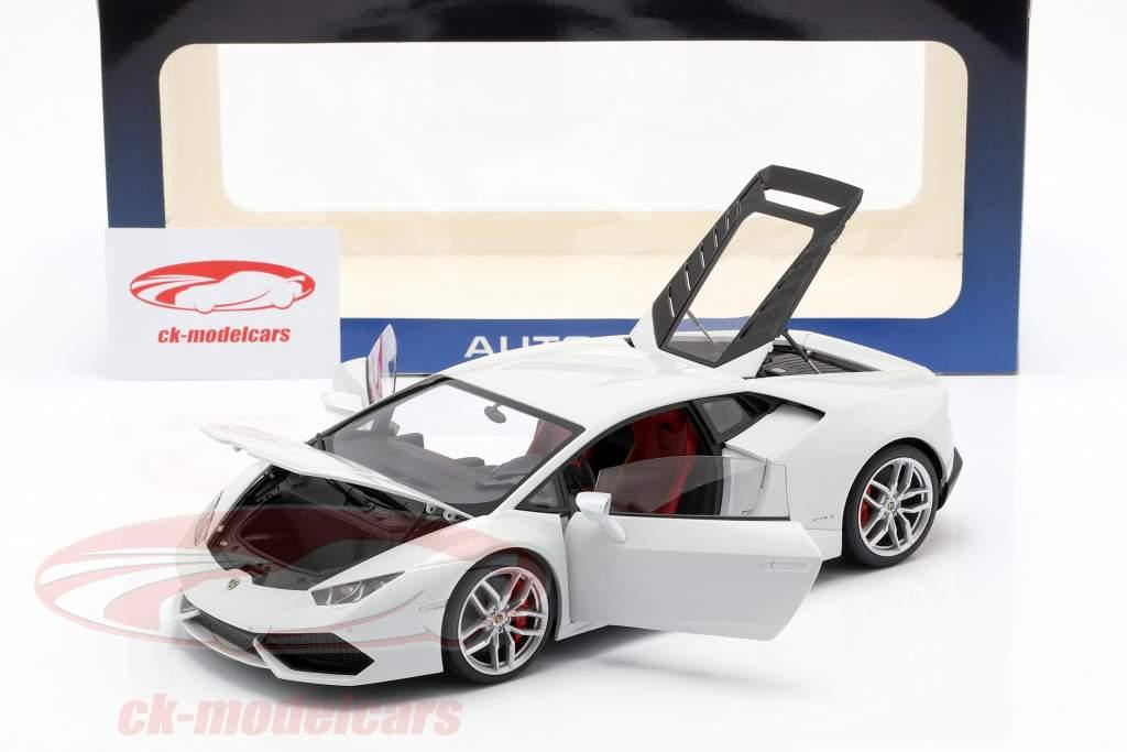 Lamborghini Huracan LP 610-4 År 2014 hvid 1:18 AUTOart