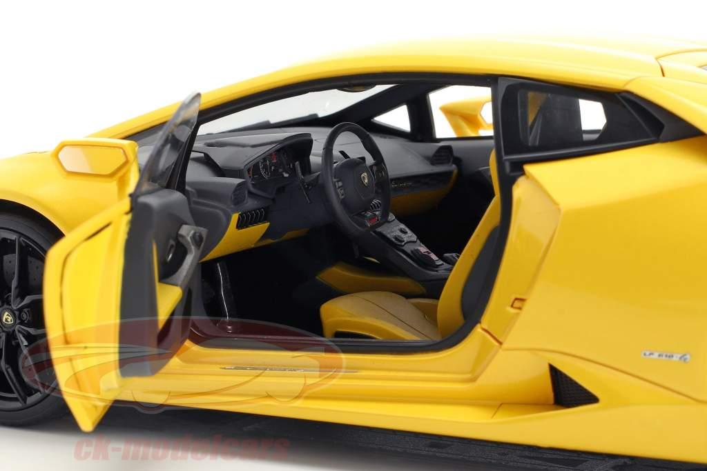 Lamborghini Huracan LP610-4 jaar 2014 geel 1:18 AUTOart